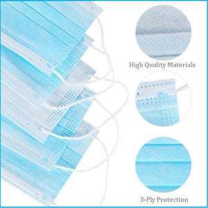 3-Ply Face Mask - 50 Pack