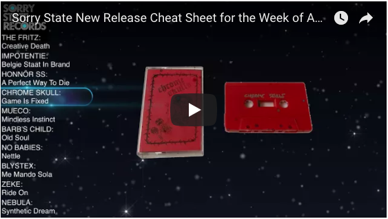 Sorry State Records' New Release Cheat Sheet for the week of April 2nd
