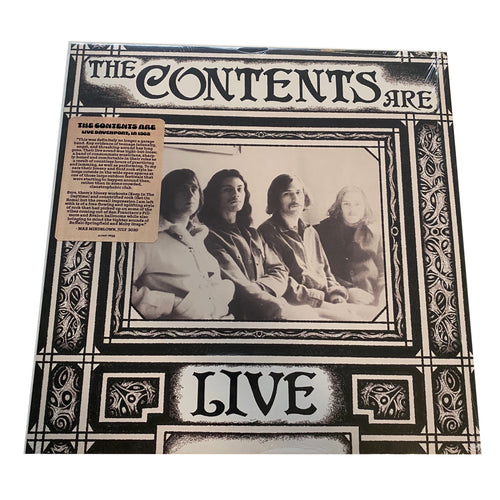 The Contents Are:  Live Davenport, Iowa 1968 12