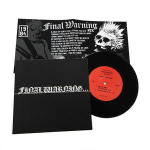 "Final Warning: S/T 7"" (new)"
