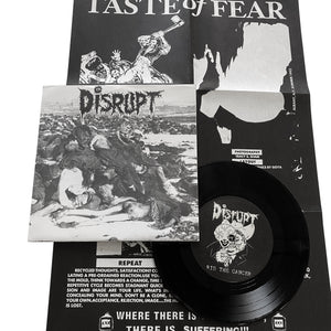 "Taste Of Fear / Disrupt: Split 7"" (used)"