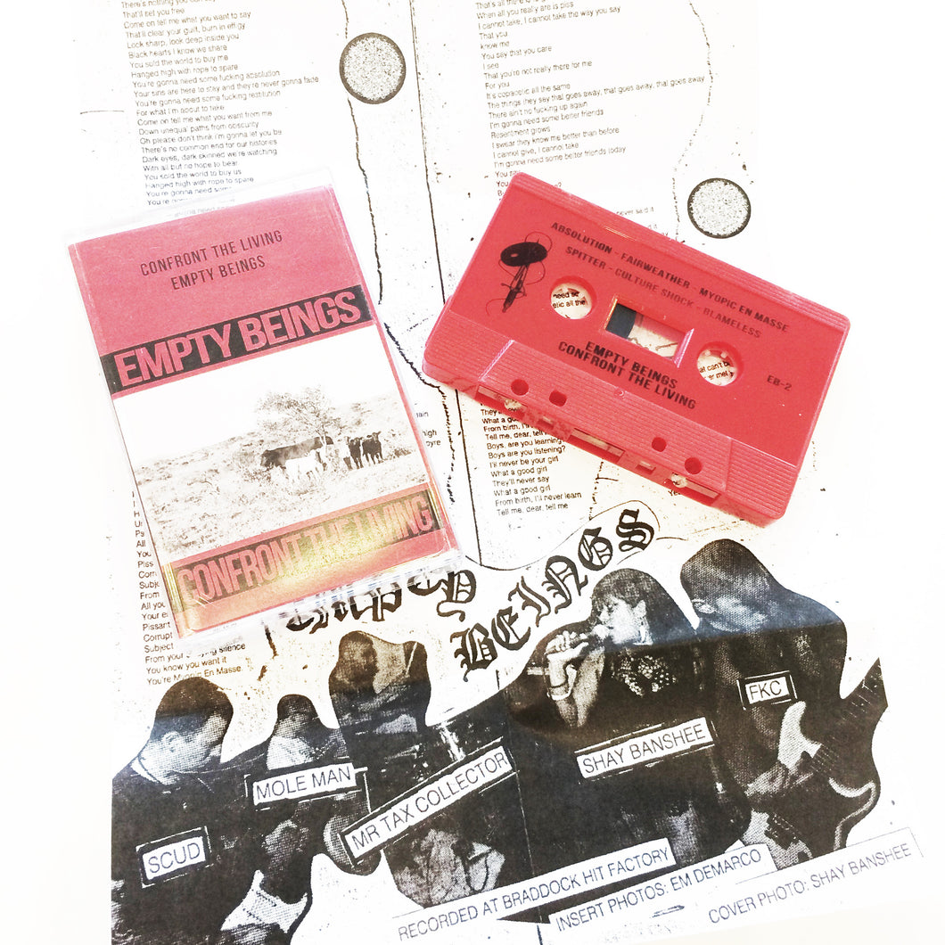Empty Beings: Confront The Living cassette