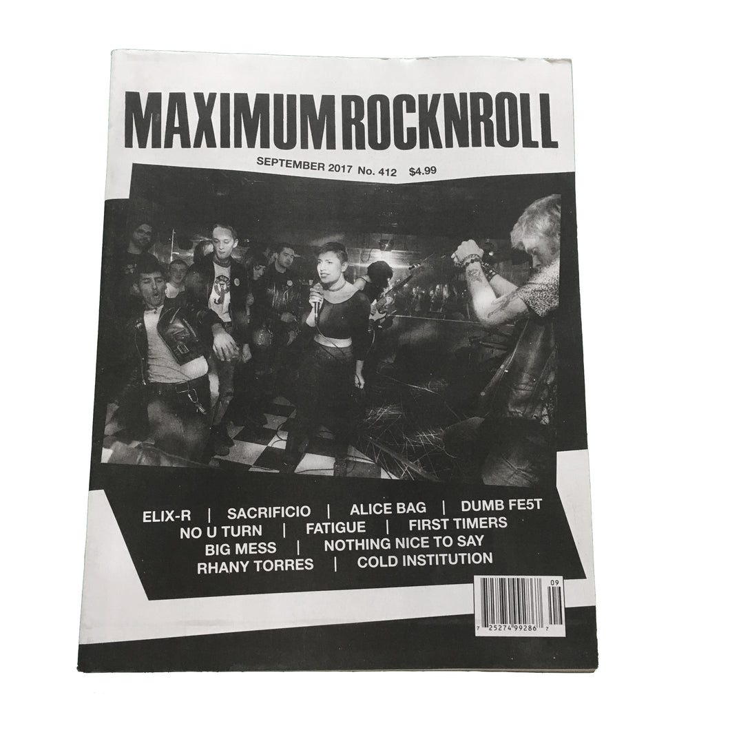 Maximum Rocknroll #412 (September 2017)