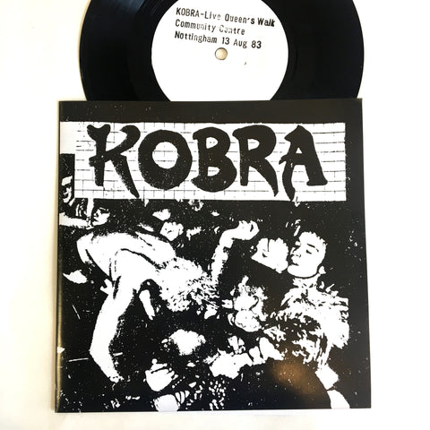 "Kobra: Live At Queens Walk Centre 7"" (new)"