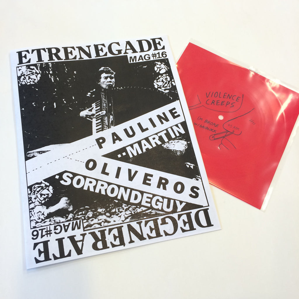 Degenerate #16 zine with Violence Creeps flexi