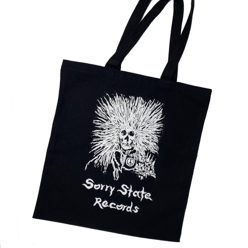 Sorry State Records Skull Tote with Thomas Sara art