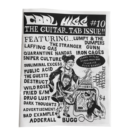 Cool Hiss #10: The Guitar Tab Issue zine
