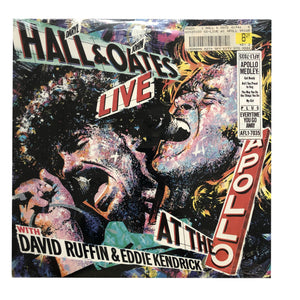 "Hall & Oates: Live at the Apollo 12"" (sealed 1985 dead stock)"
