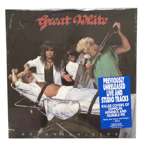 "Great White: Recovery: Live! 12"" (sealed 1987 dead stock)"