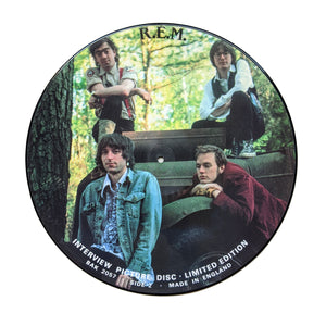 "REM: Interview Picture Disc 12"" (used)"