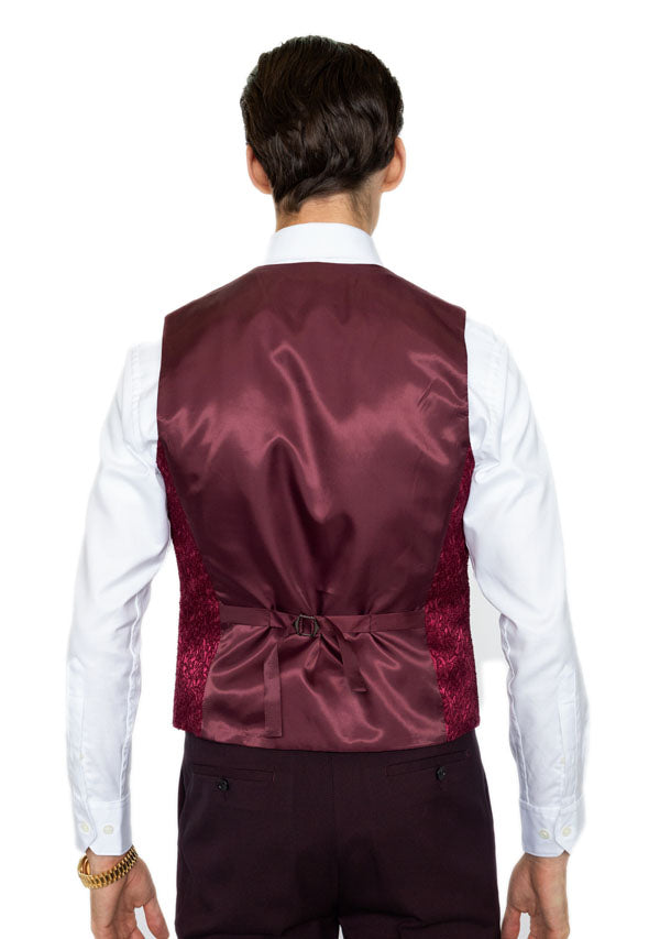 3 Piece Suit 5509 - Burgundy (Price reduction 40%)