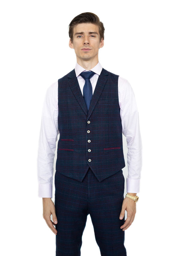 5506 Waist Coat - Burgundy (Price reduction more than 50%)