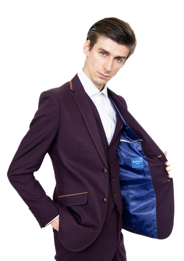 3 Piece Suit 5477 - Plum (Price reduction more than 50%)