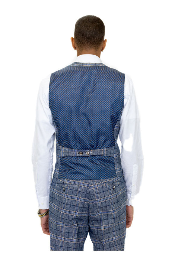 5506 Waistcoat - Blue ( Price Reduction More than 50%)