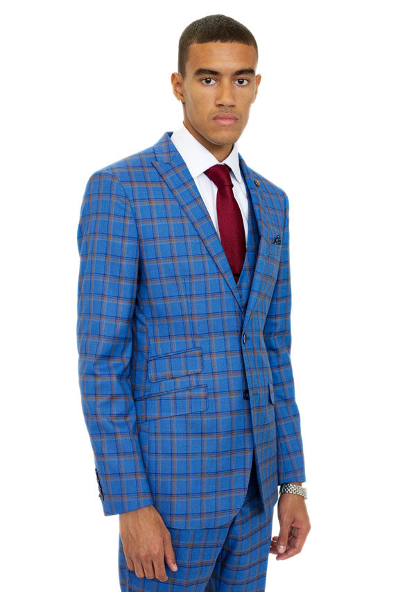 3 Piece Suit 5504 - Royal Blue ( Price reduction more than 50%)