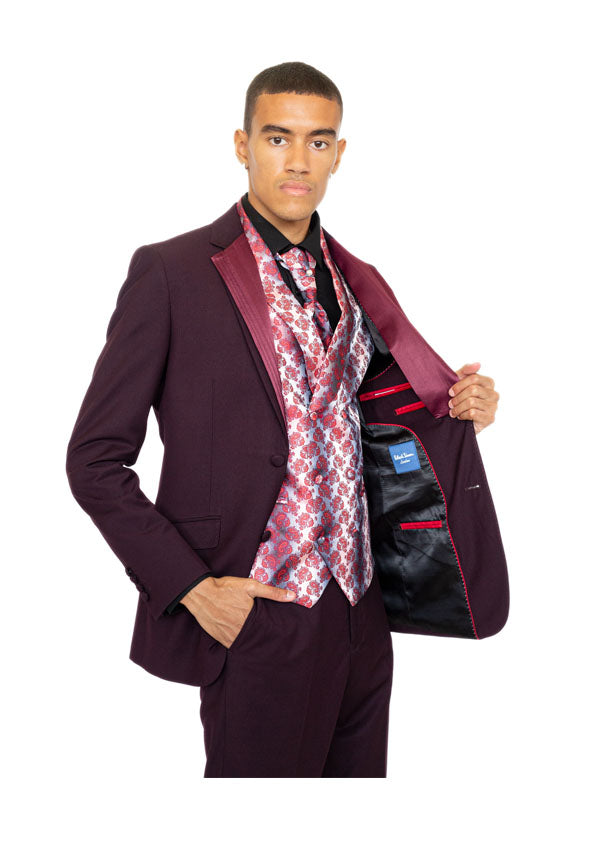 3 Piece Suit 5473 - Burgundy (Price reduction 50%)