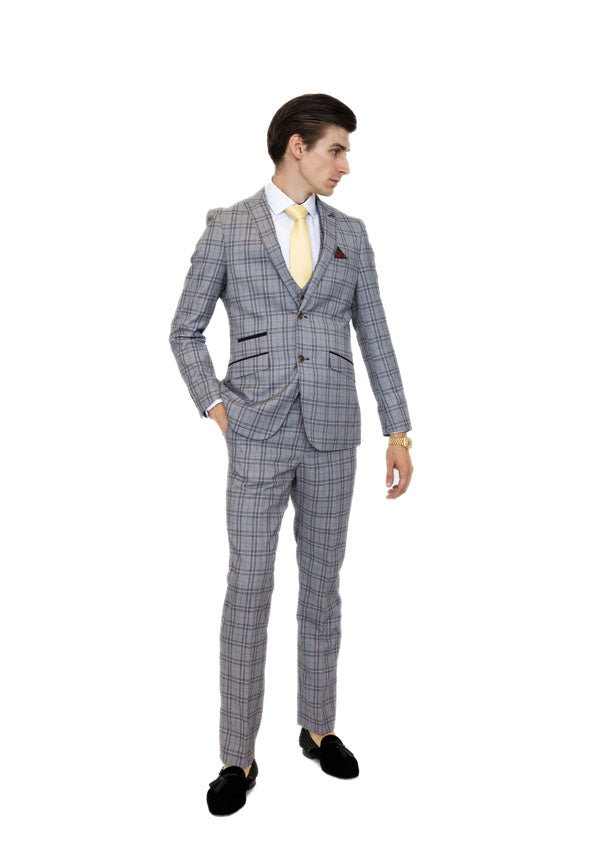 3 Piece Suit 5484 - Grey