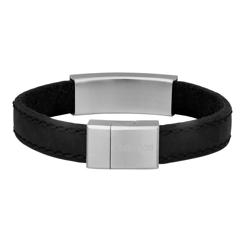 SON armbånd - Black calf leather