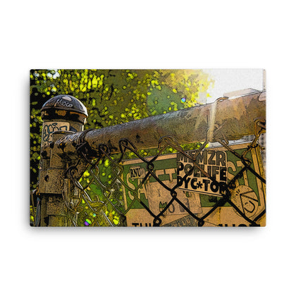 Fenced In paint-style Canvas Print