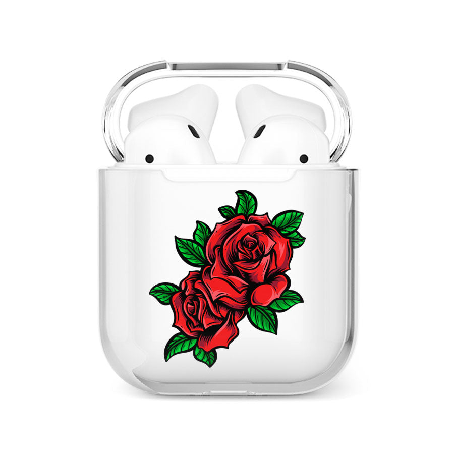 coque airpods roses rouges