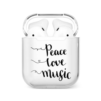 Coque Airpods <br> Peace Love Music