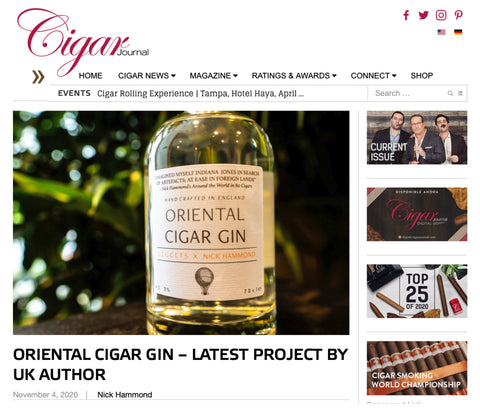 Cigar Journal Interview with Nick Hammond - Premium gin review