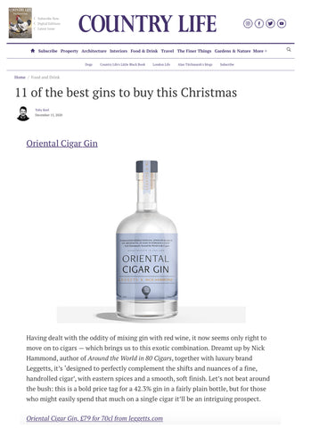 Country Life Best Gin for Christmas - Premium gin review