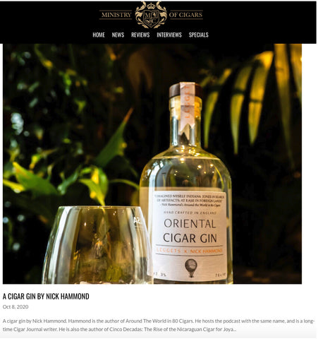 A Cigar Gin by Nick Hammond - premium gin review