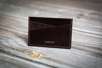 Bridle Leather Cardholder - Dark Brown