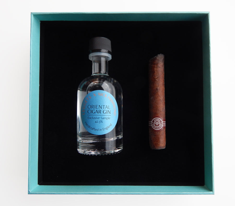 Distinguished gift set: Luxury gin and cigar