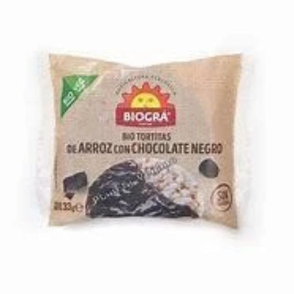 TORTITAS DE ARROZ CON CHOCOLATE NEGRO BIOGRA