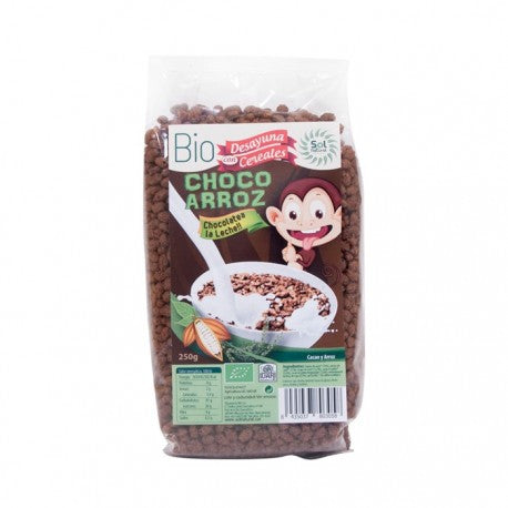 CEREALES CHOCO ARROZ SOL NATURAL 250G