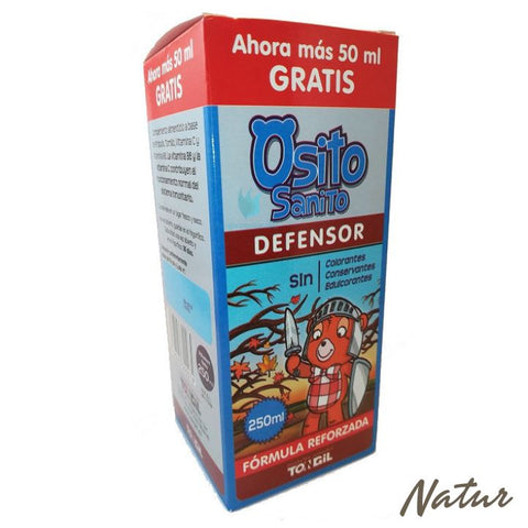 OSITO SANITO DEFENSOR JARABE TONGIL 250 ML
