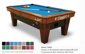 Diamond Smart Table Rosewood 7 Foot (New)