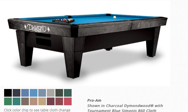 Diamond Pro Am Table Black 7 Foot (New)