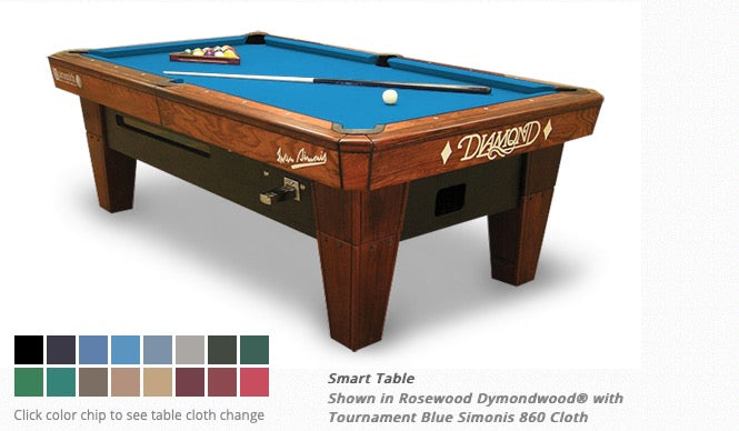 Diamond Smart Table 7 Foot Rosewood (Tourney Used)