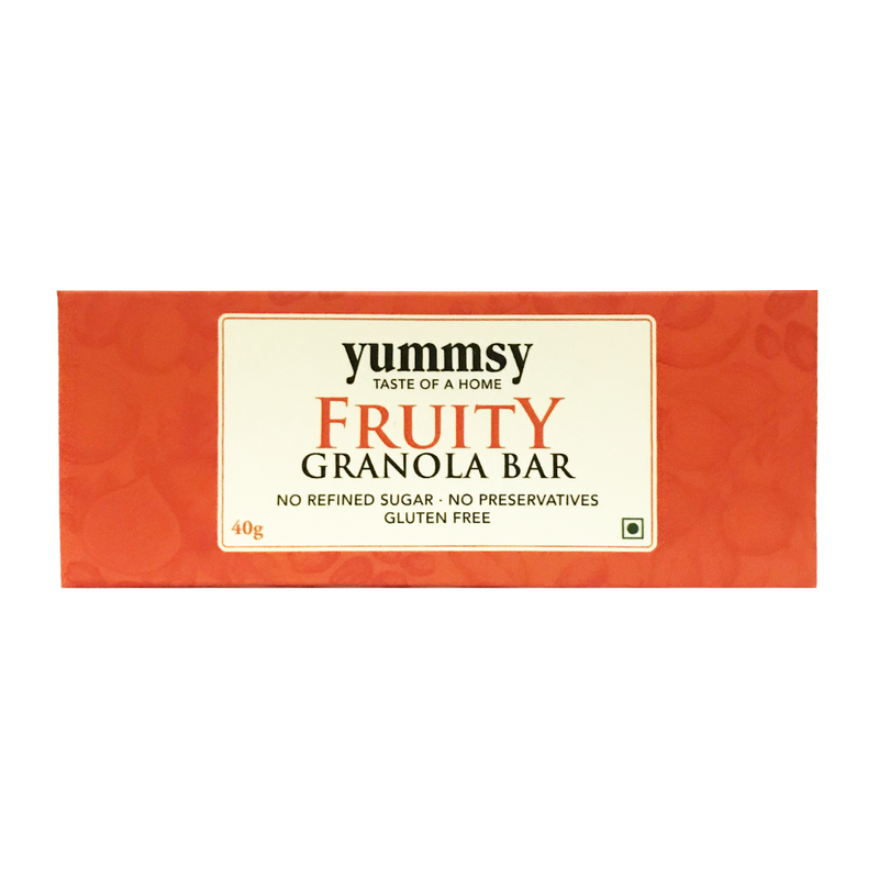 Fruity Granola Bar. Sugar Free & Gluten Free!