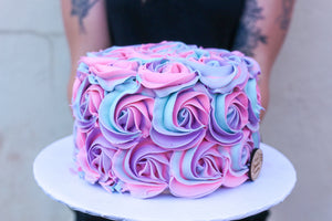 Last Minute Rose Swirl Cake (2 Day Notice Required)