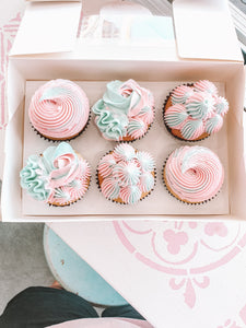 Gender Reveal baby shower cupcakes (1 days minimum notice)