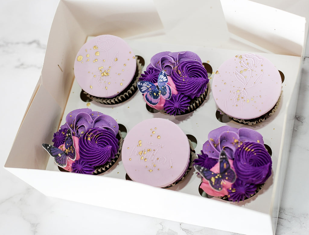 Mothers Day Designer 6 pack Cupcakes (SATURDAY MAY 8TH COLLECTION)
