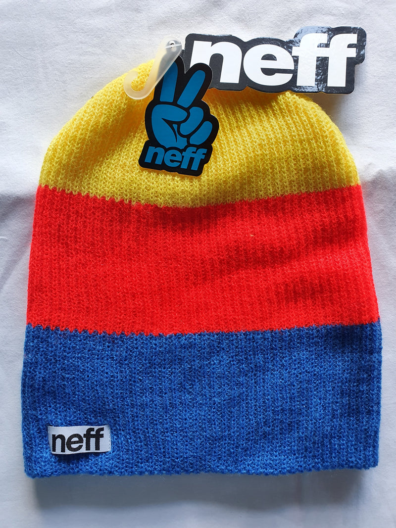 NEFF Beanie Yellow/Red/Blue