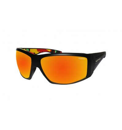 AHI-BOMB ( RED MIRROR POLARIZED/MATTE BLACK/RASTA )