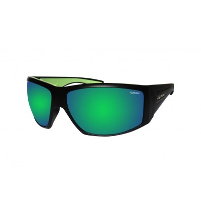 AHI-BOMB ( GREEN MIRROR POLARIZED/MATTE BLACK )