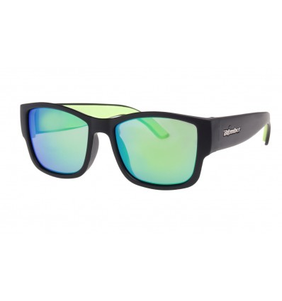 GOMER-BOMB ( GREEN MIRROR POLARIZED/MATTE BLACK )