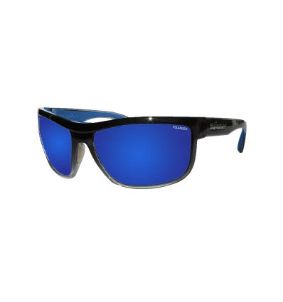HUB-BOMB ( BLUE MIRROR POLARIZED/2-TONE CRYSTAL SMOKE )