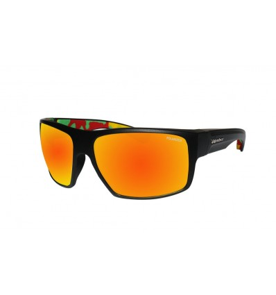 MANA-BOMB ( RED MIRROR POLARIZED/MATTE BLACK/RASTA )