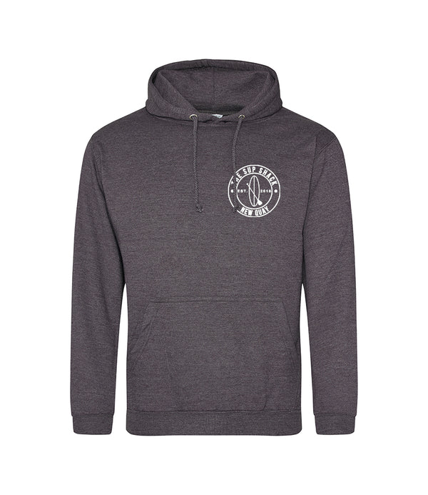 Charcoal with White Logo adults hoody