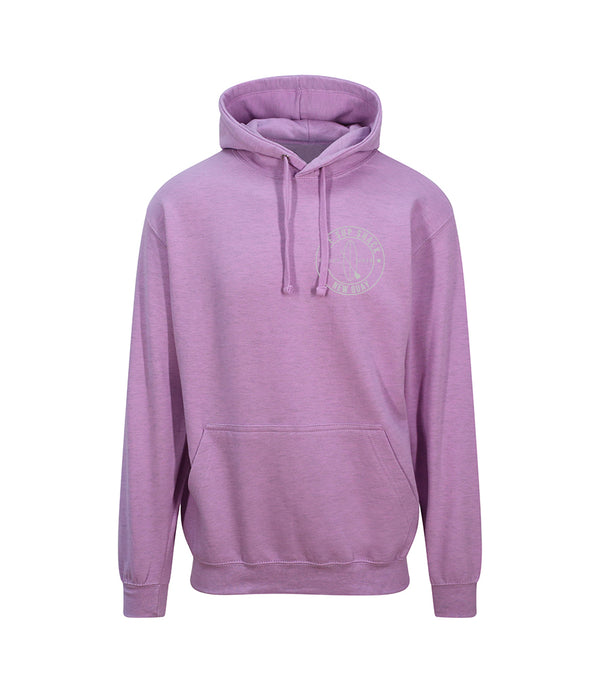 Surf Pink with Grey Logo adults hoody