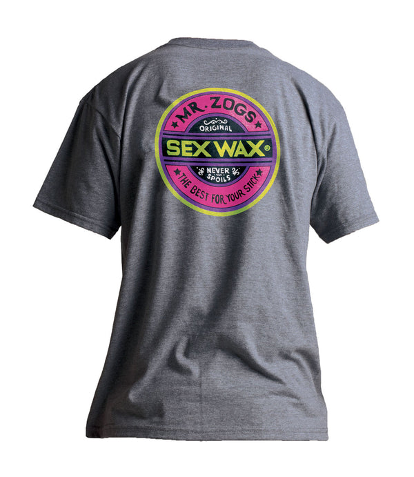 Sex Wax Fluro T'shirt Grey