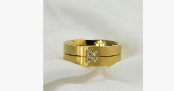 Gold Titanium Steel Band Ring - FREE SHIP DEALS